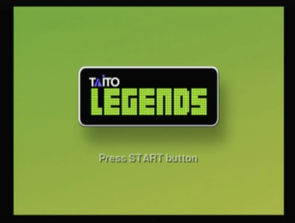 Taito Legends homescreen