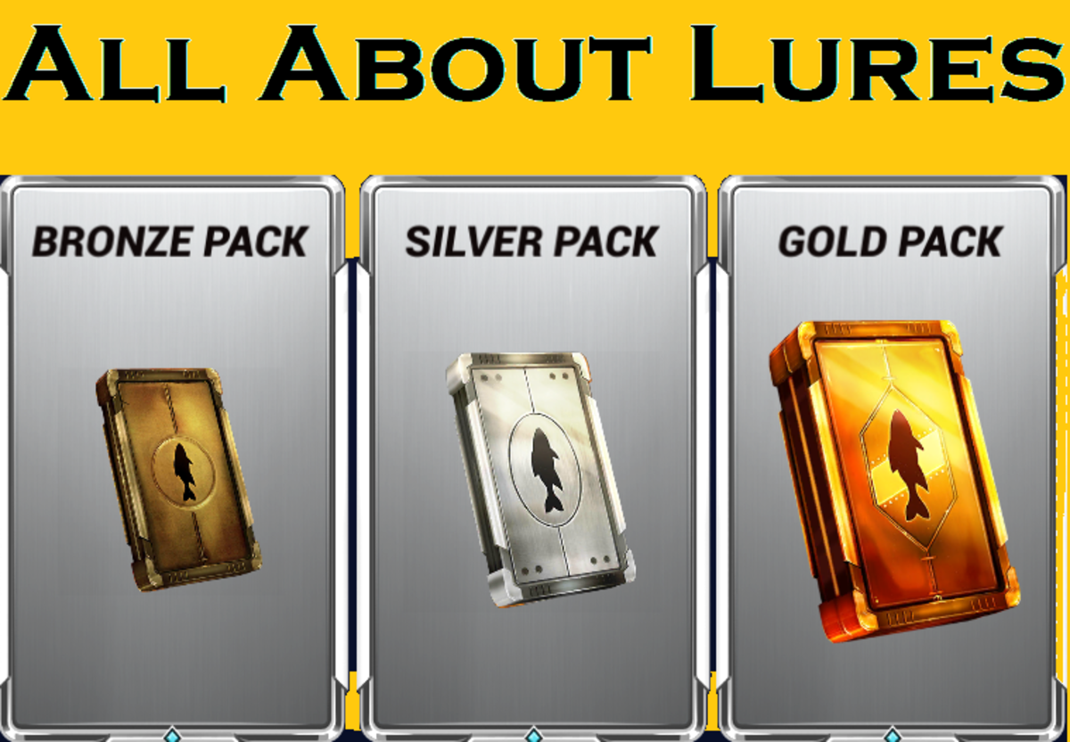 "Have you ever wondered what you get in each different type of lure pack in ""Fishing Clash?"""