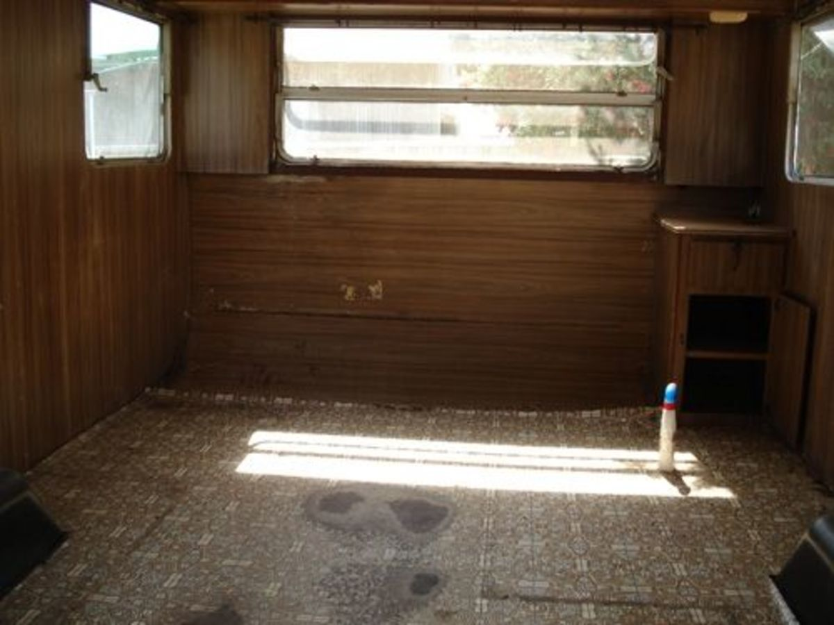 Gutted interior