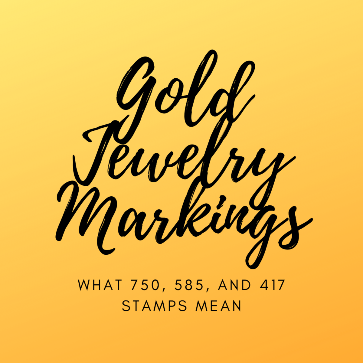 What do these gold jewelry markings mean?