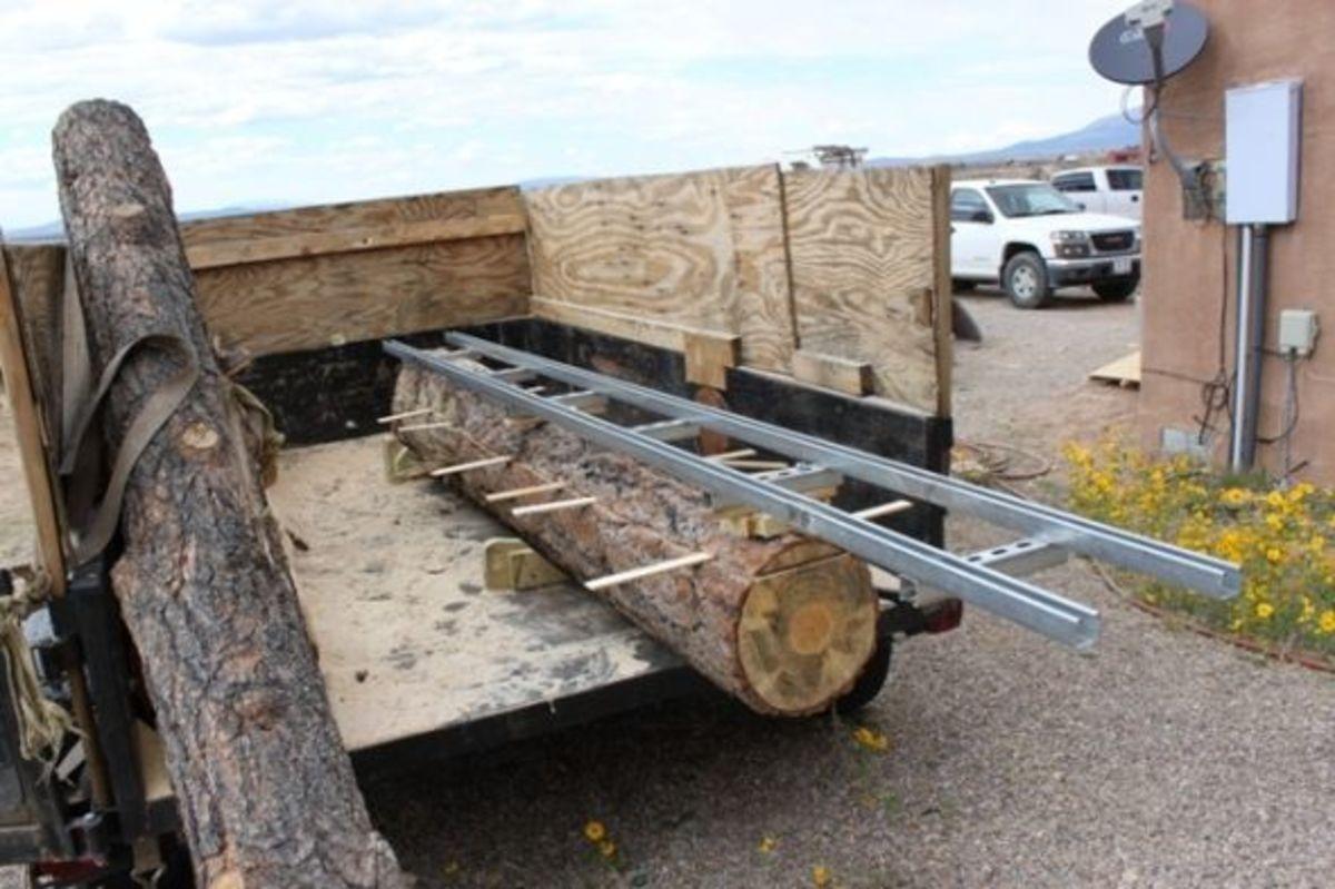 A Log and Rails Pre-Cut