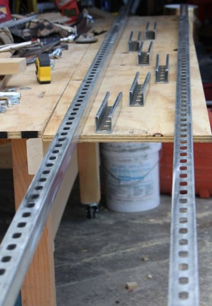 Diy Portable Handrails : My granberg alaskan mkiii chainsaw mill rails dengarden