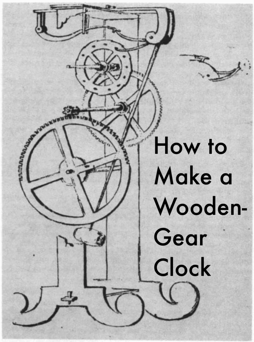 Clock Gears Diagram Make a wooden gear clock