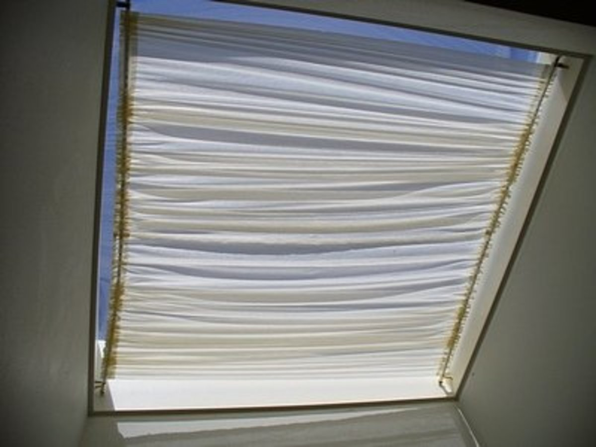 The completed shade allows plenty of sunlight to come in and keeps the direct heat out!