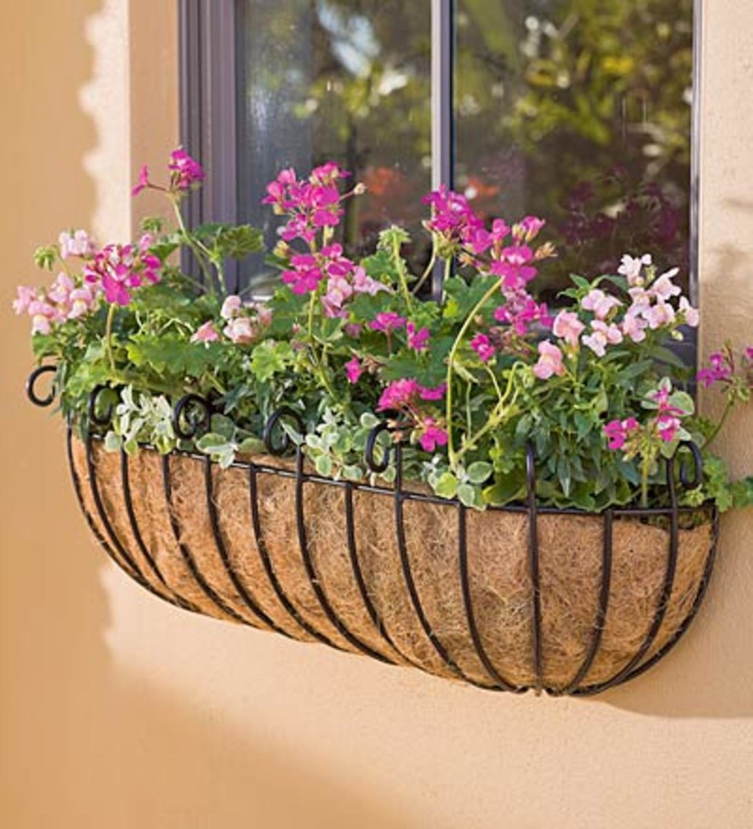 This metal framework, with its liner, is called a haybasket.