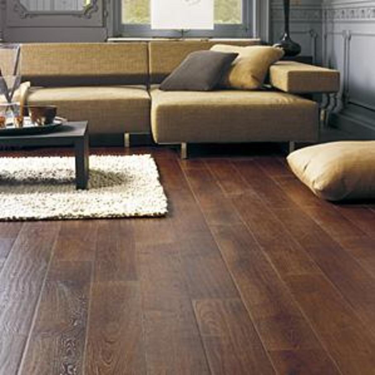 Laminate floor.