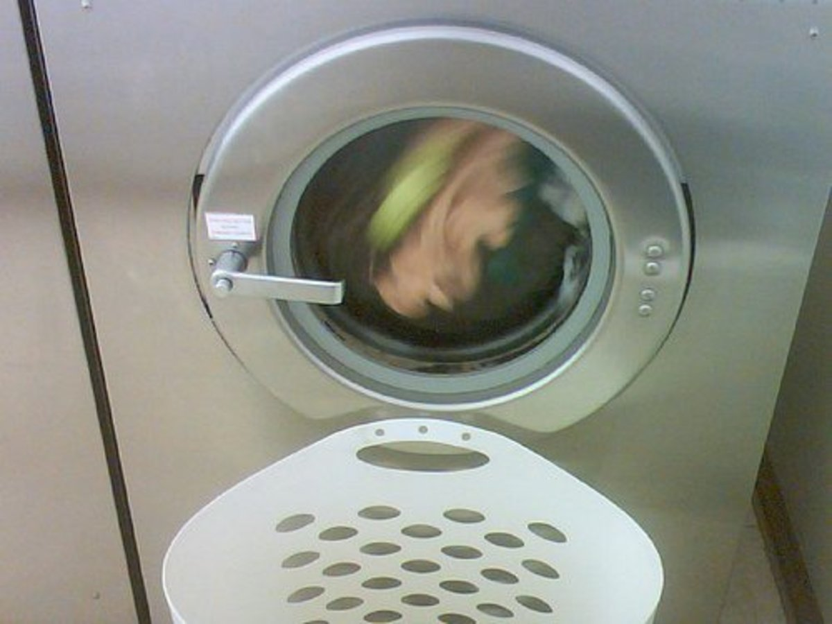 You can watch front-load washing machines in action.