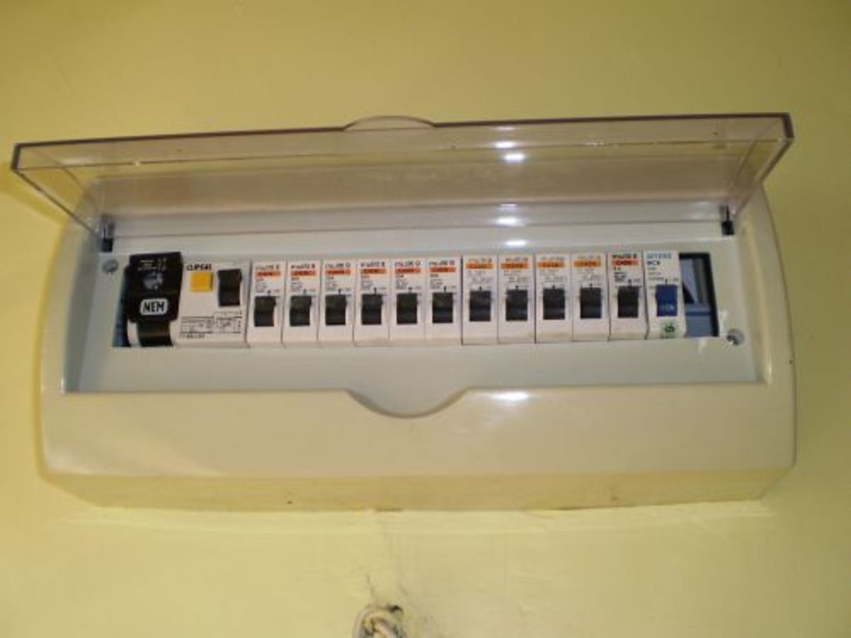 The House Electric Panel With the Transparent Cover in Place
