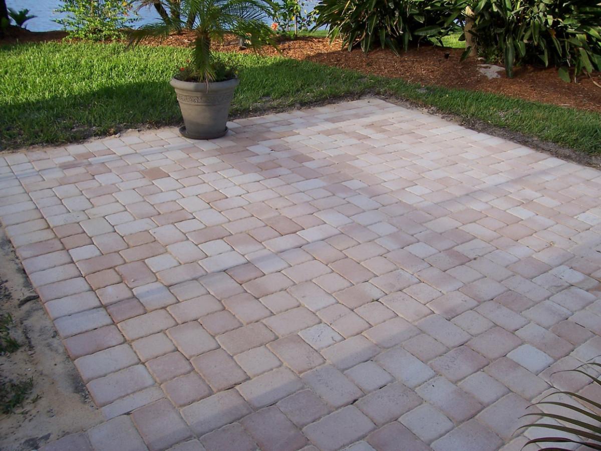 extending your concrete patio with pavers dengarden