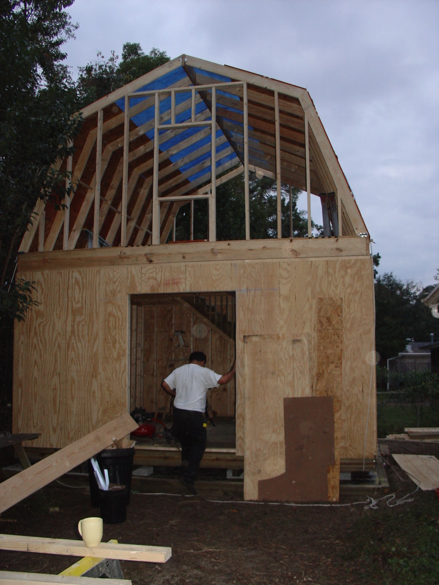 How to build a two story shed with a lot of help dengarden for Two story shed house