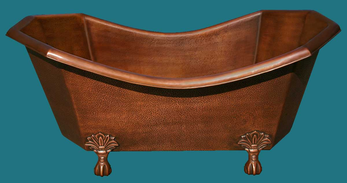 Copper clawfoot vintage tub