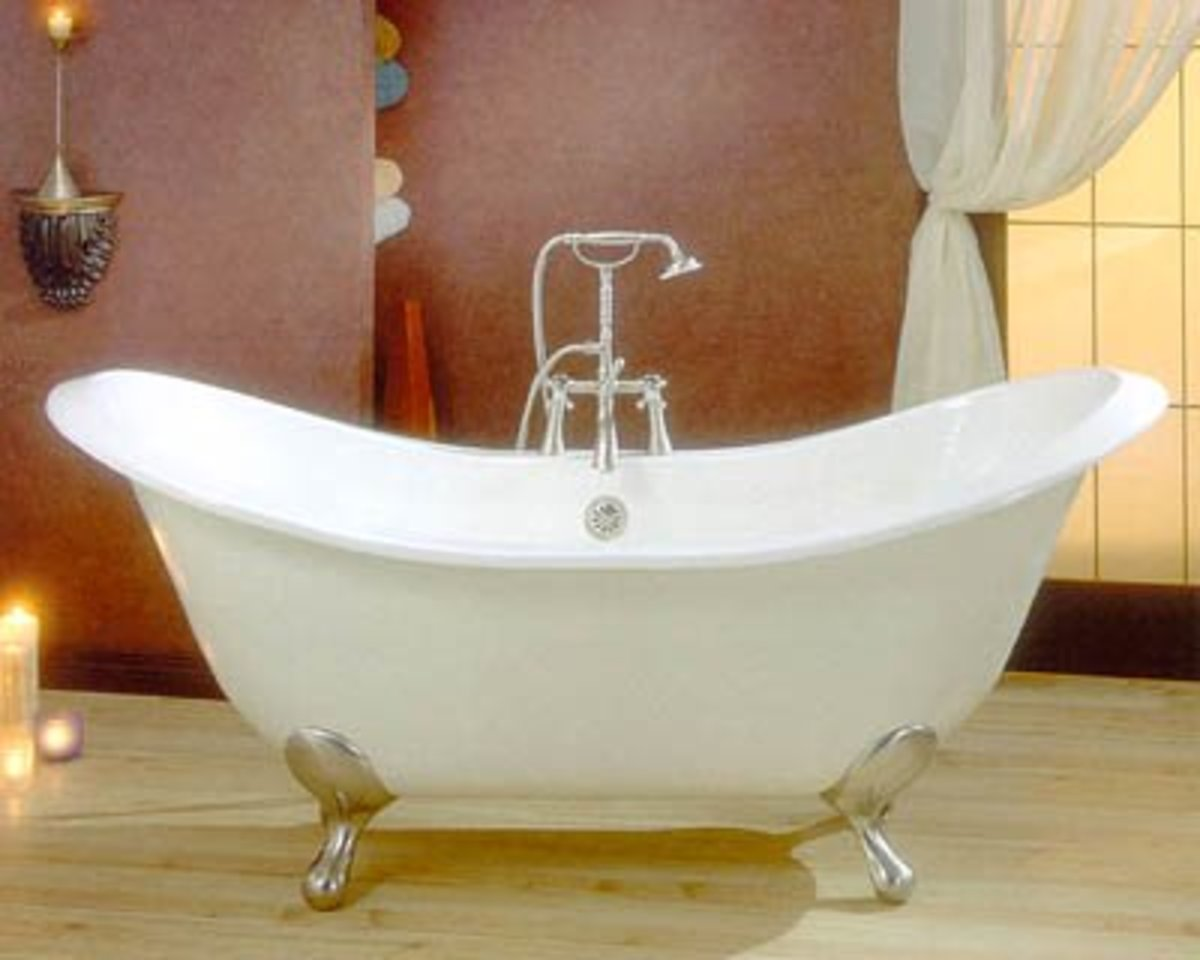 Double slipper bathtub