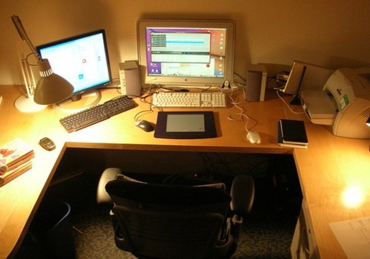 A home office.  This is a great example of avoiding excess lighting.