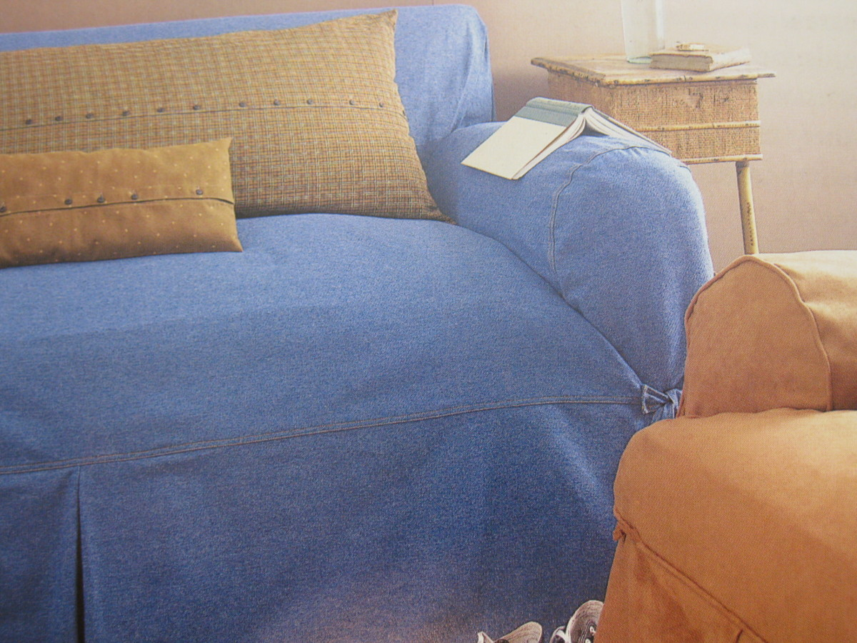 Here's a slipcover example in a cozy, casual room.