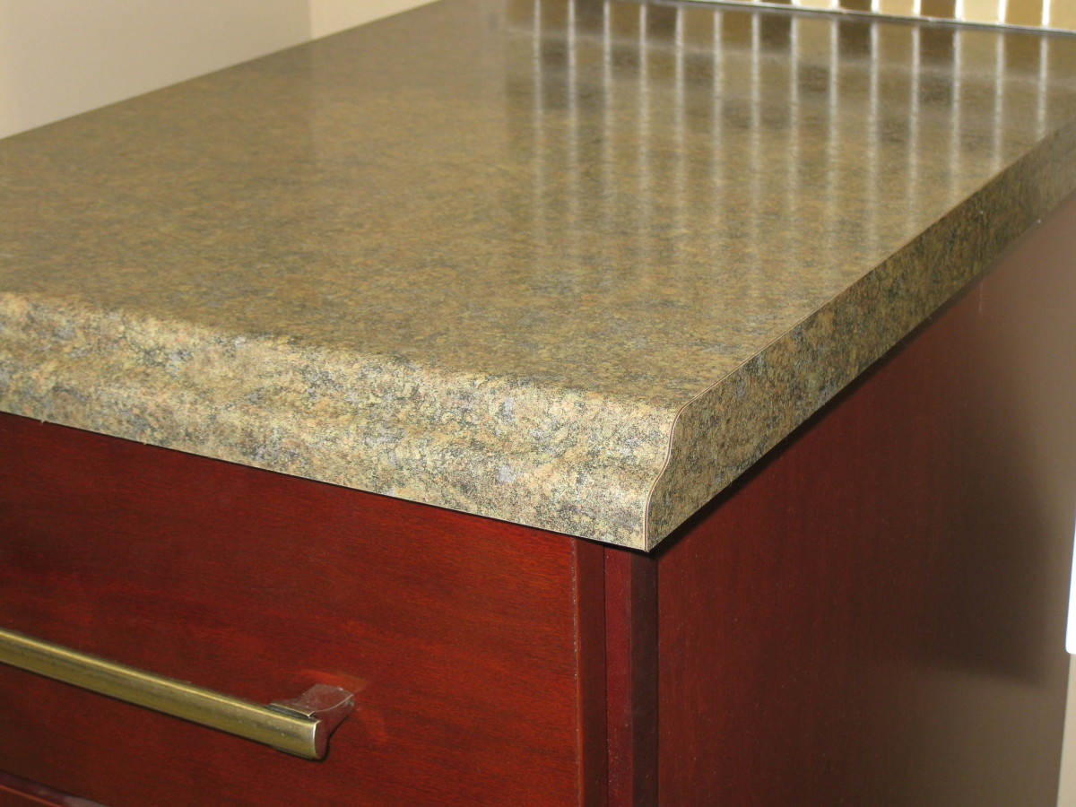 Formica Countertop Edge Options : ... with Laminate Kitchen Countertops & Refinished Kitchen Cabinets Cheap