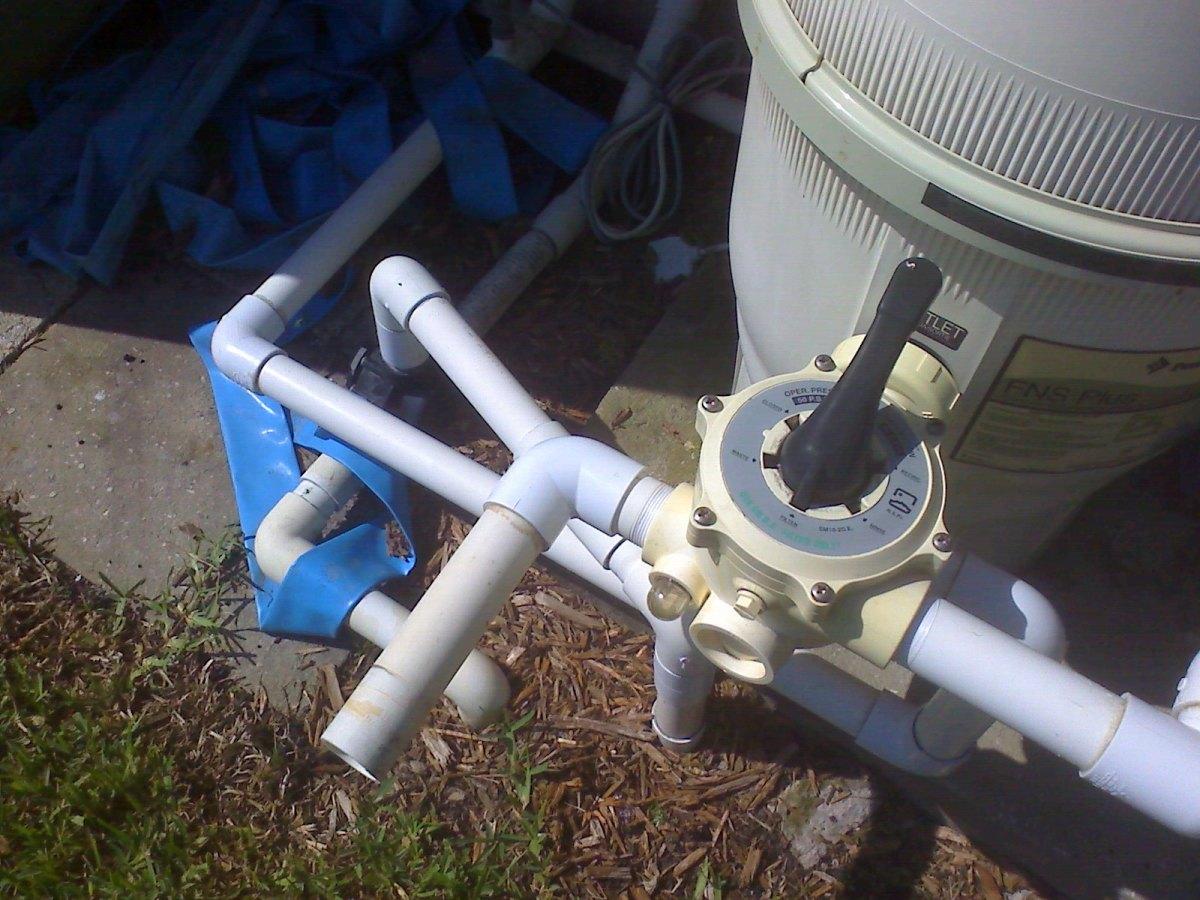 Shut off timer is set and valve is positioned for backwash.