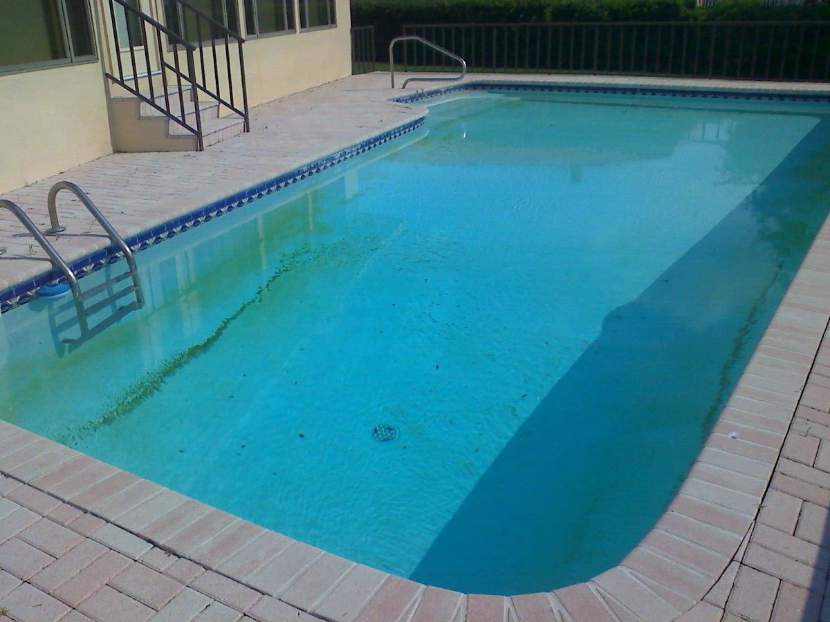 How to use flocking agent to clean a green and cloudy pool for Uses for old swimming pools