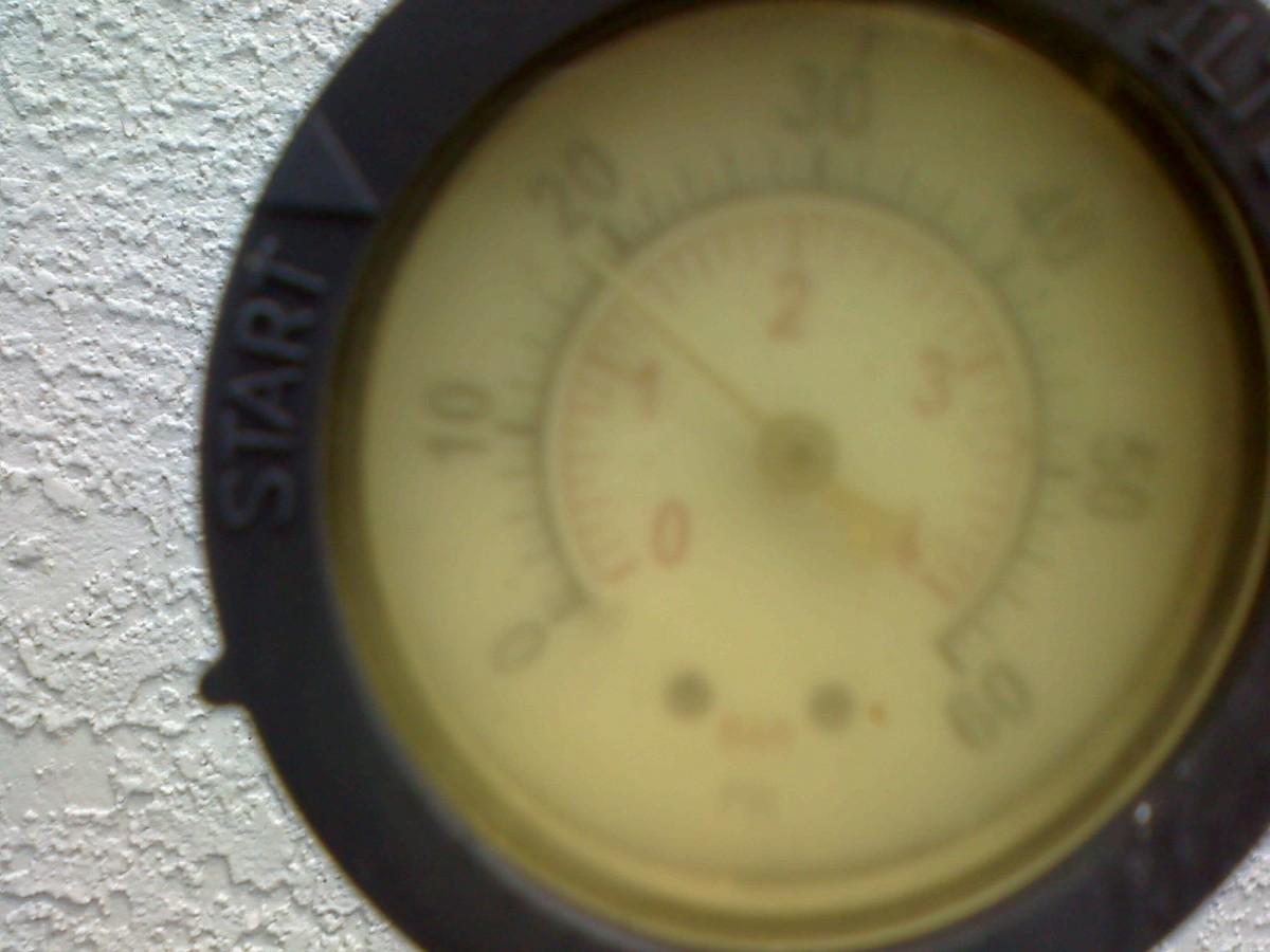 make sure you have a functioning pressure gauge