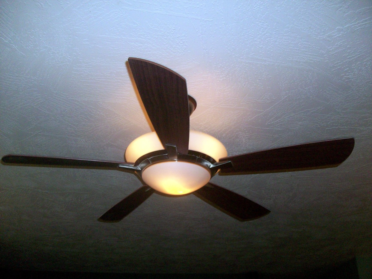 New ceiling fan installed, including all new wiring