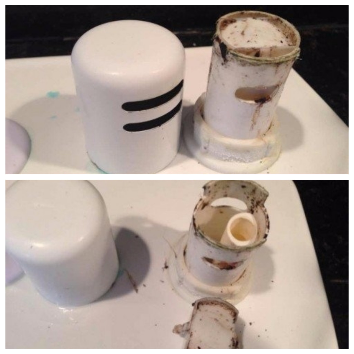Pull the cover off your air gap and check for debris and tiny bits of food.