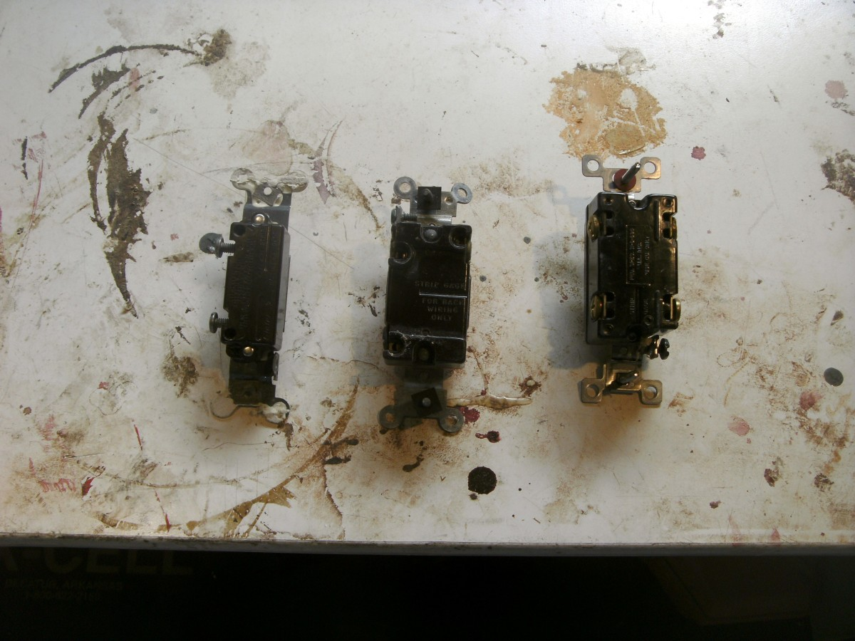 From left, 2, 3 and 4 way switches