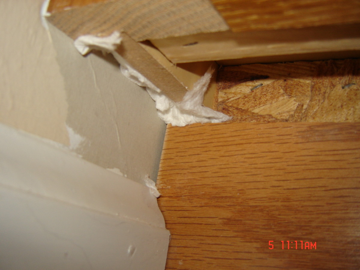 Edge of bathroom cabinets—cold air!