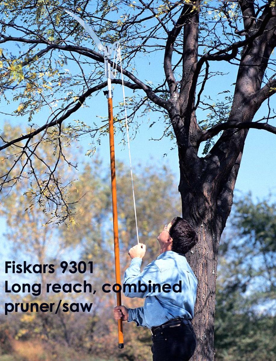 Lightweight pole saw from Fiskars