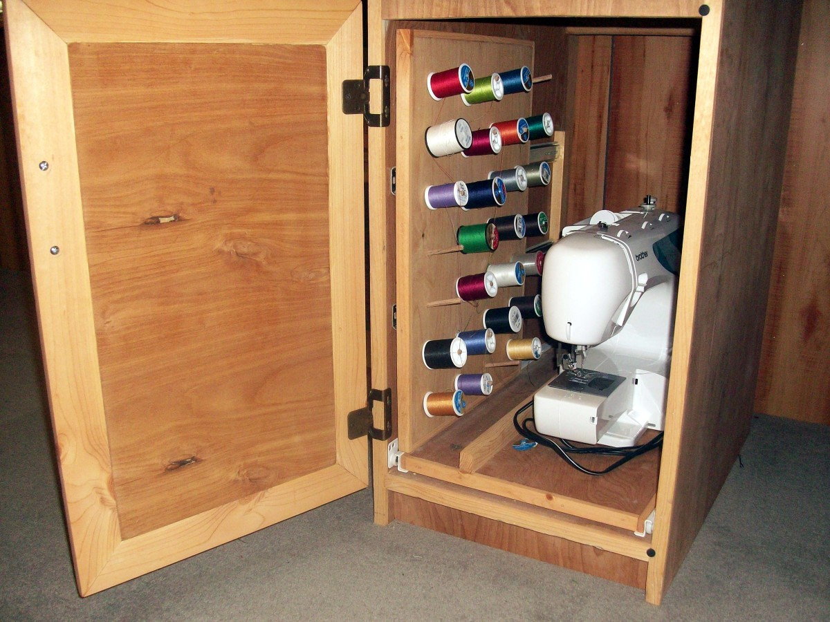 Left cabinet opened
