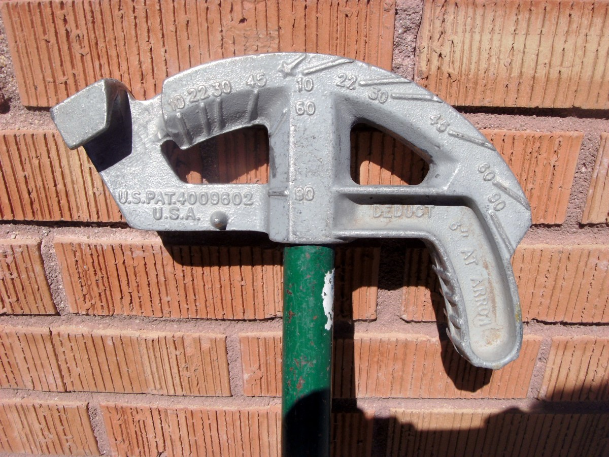 Common hand bender used by electricians