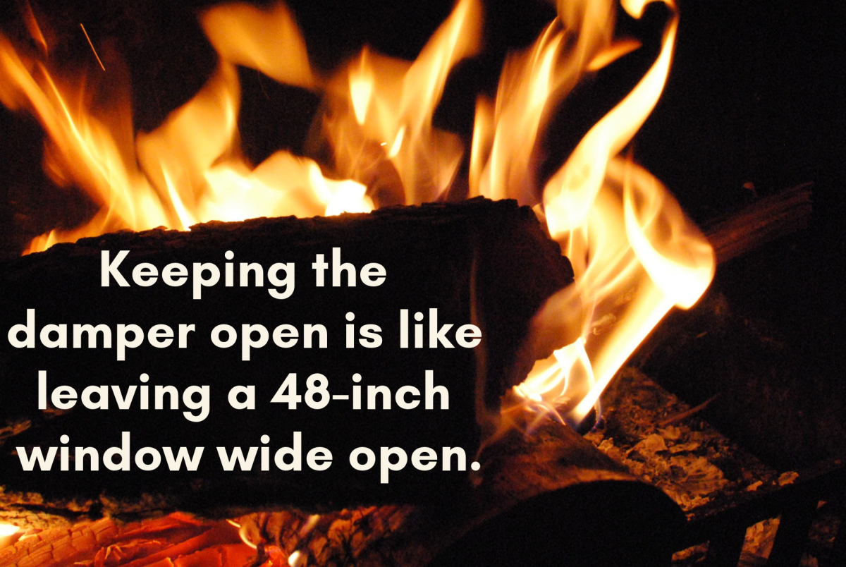 Fireplaces are huge energy wasters when used incorrectly.