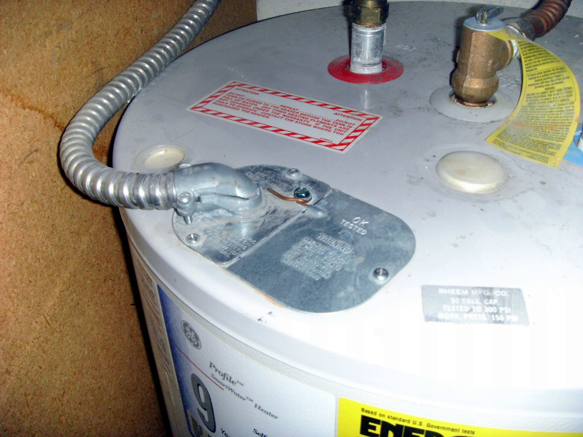 Electrical cover plate: Note the bare ground wire fastened to the top of the plate.