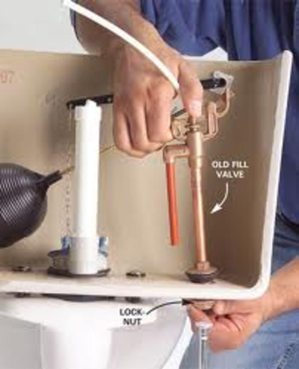 Unscrew flush valve