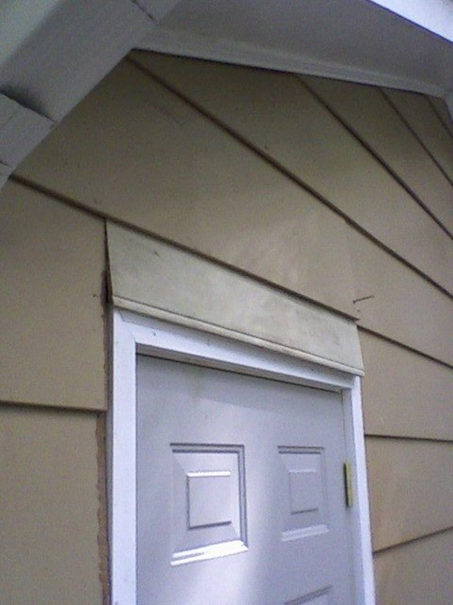 New siding in--partially.