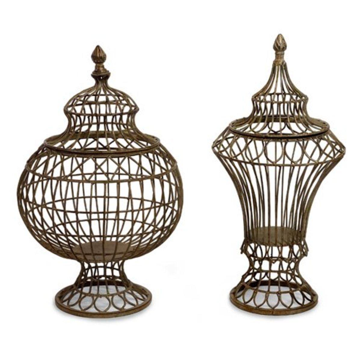 Vintage Architectural Wire Urns