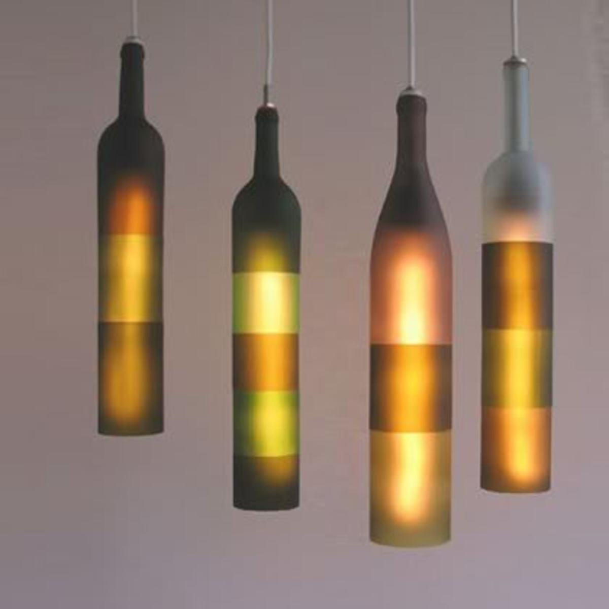 Diy pendant lights dengarden bottle pendant lights aloadofball Image collections