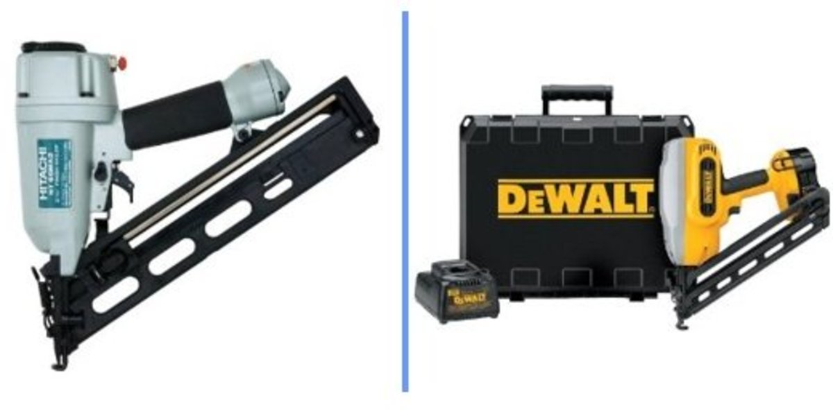 Hitachi NT65MA2 & DeWALT DC628K XRP Finishing nailers