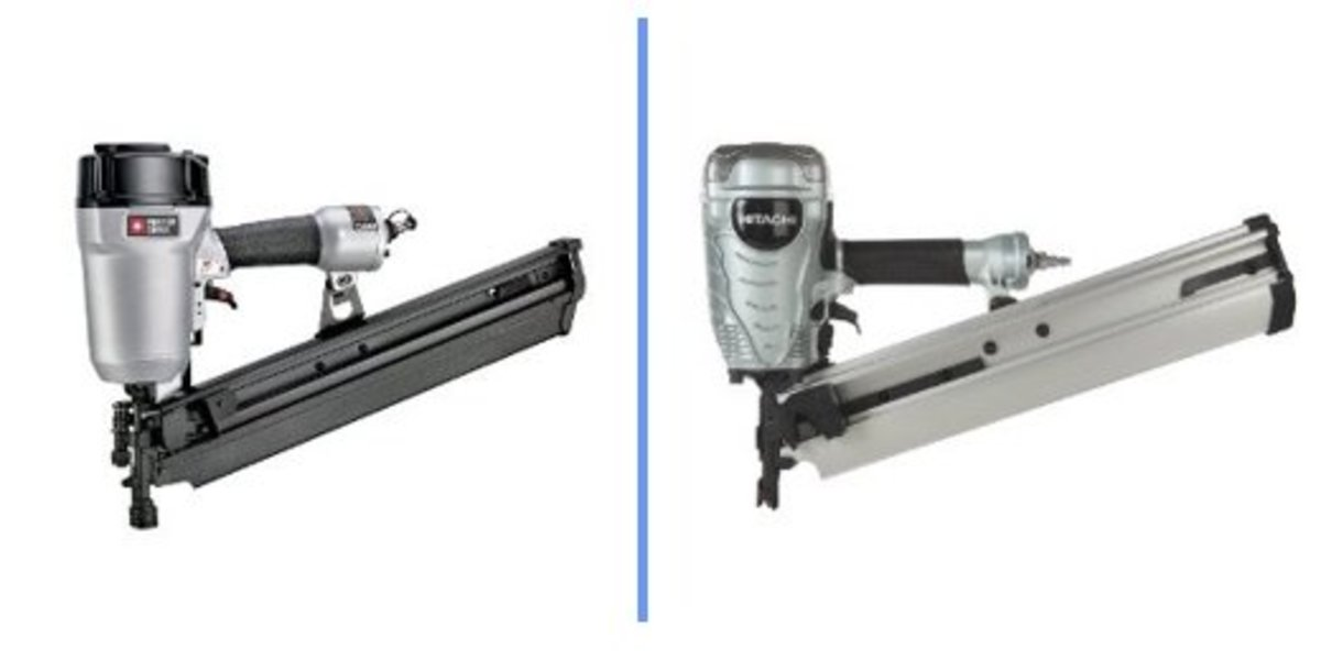 Porter-Cable FR350A & Hitachi NR90AEPR Framing Nailers.