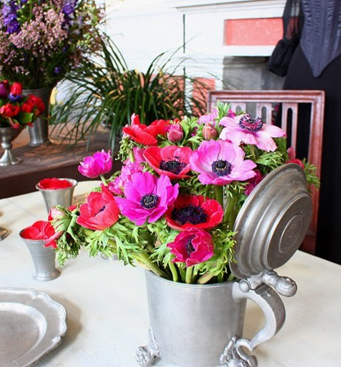 Use old jars as vases!
