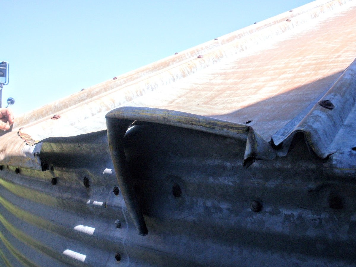 Carefully assess any damage to roof sheets, and determine whether you should fix the sheet(s), or replace them.