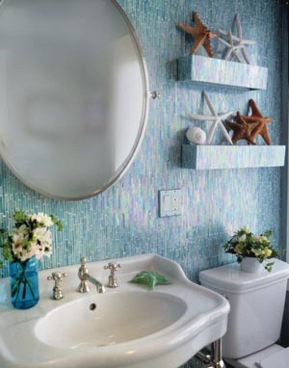 Aqua Teal and Turquoise Home Remodeling Ideas – Teal Bathroom