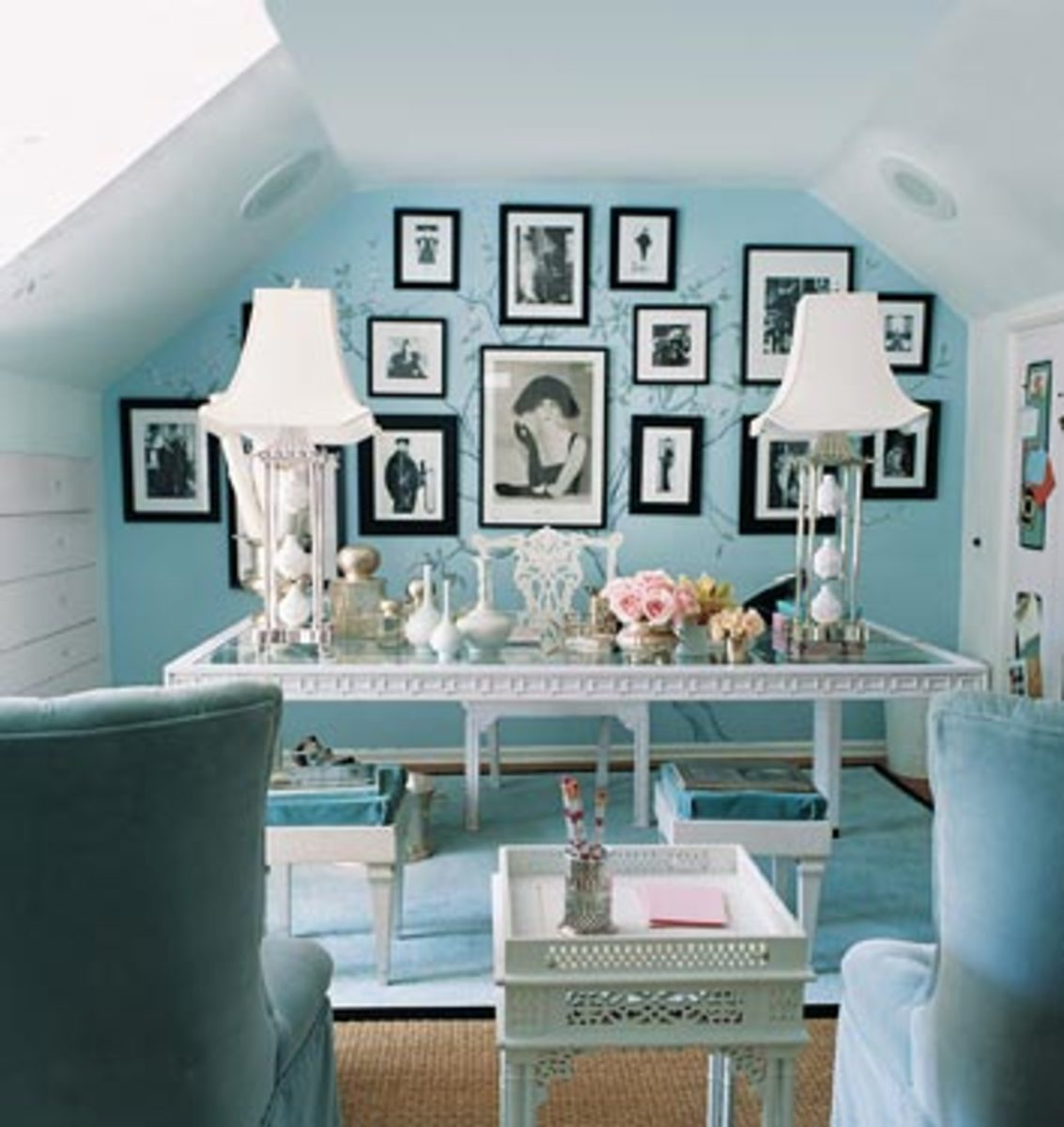 Home Interior Turquoise Office