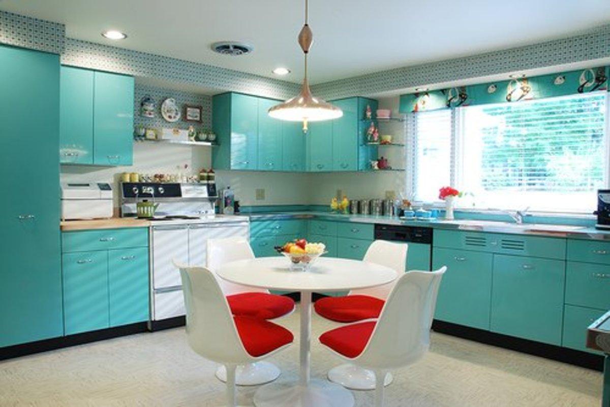 Teal Turquoise Kitchen Design Idea