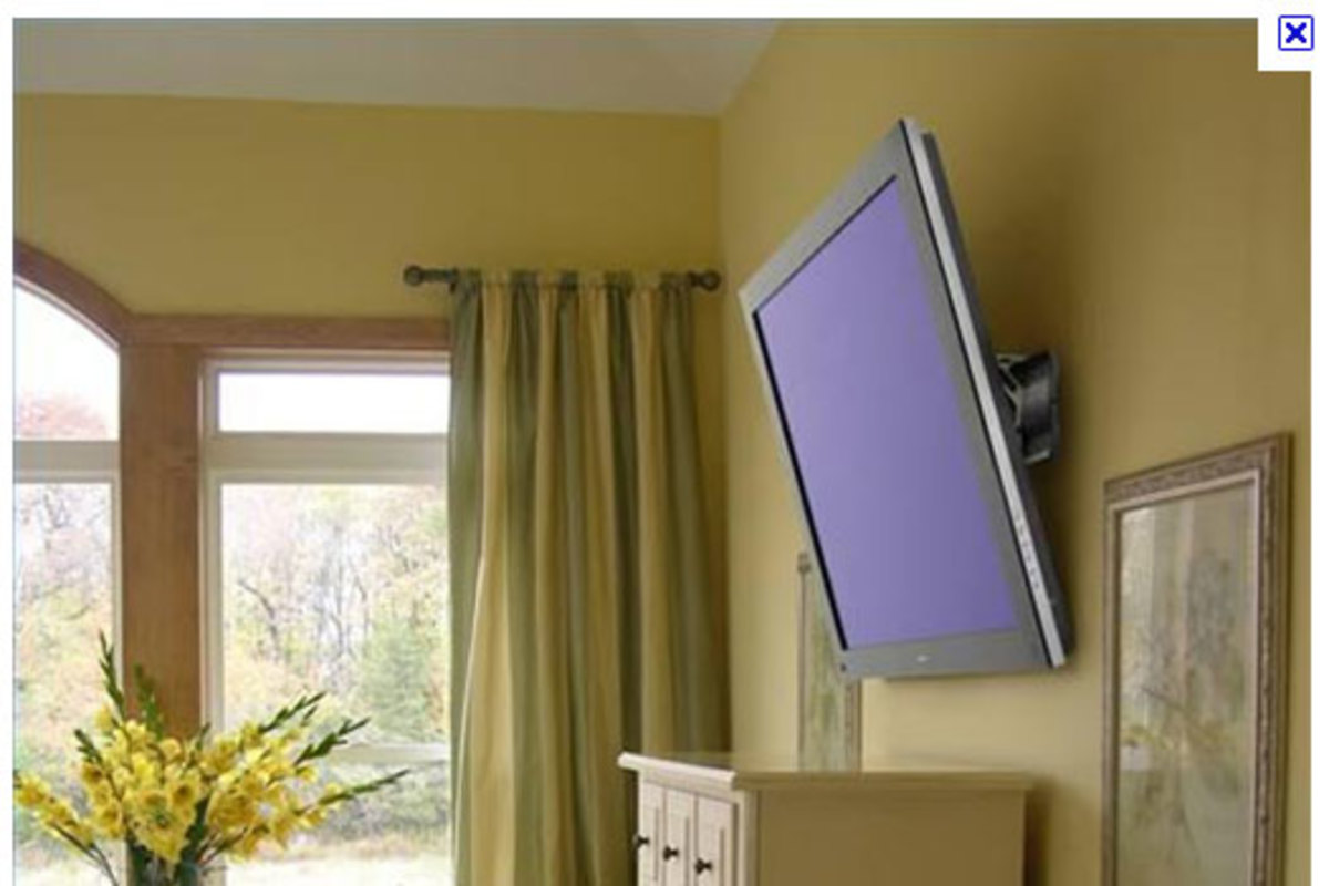 A bedroom TV should be tilted downward for easier viewing.