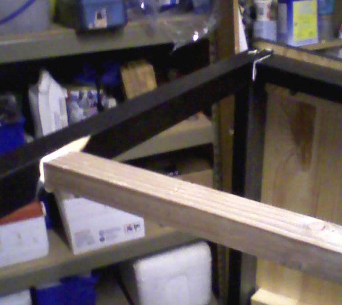 New unpainted brace in place.