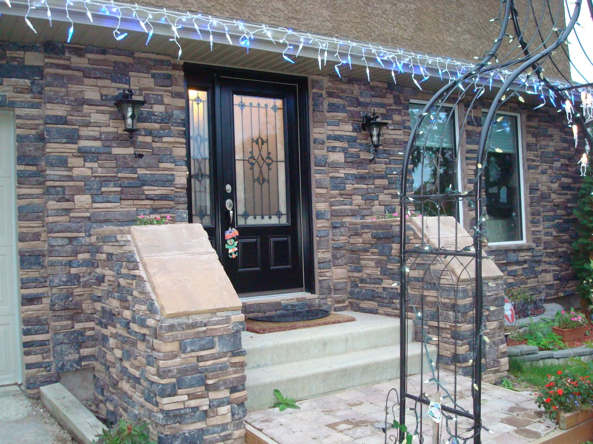 Stone Front House how to install stone veneer on the front of your house | dengarden