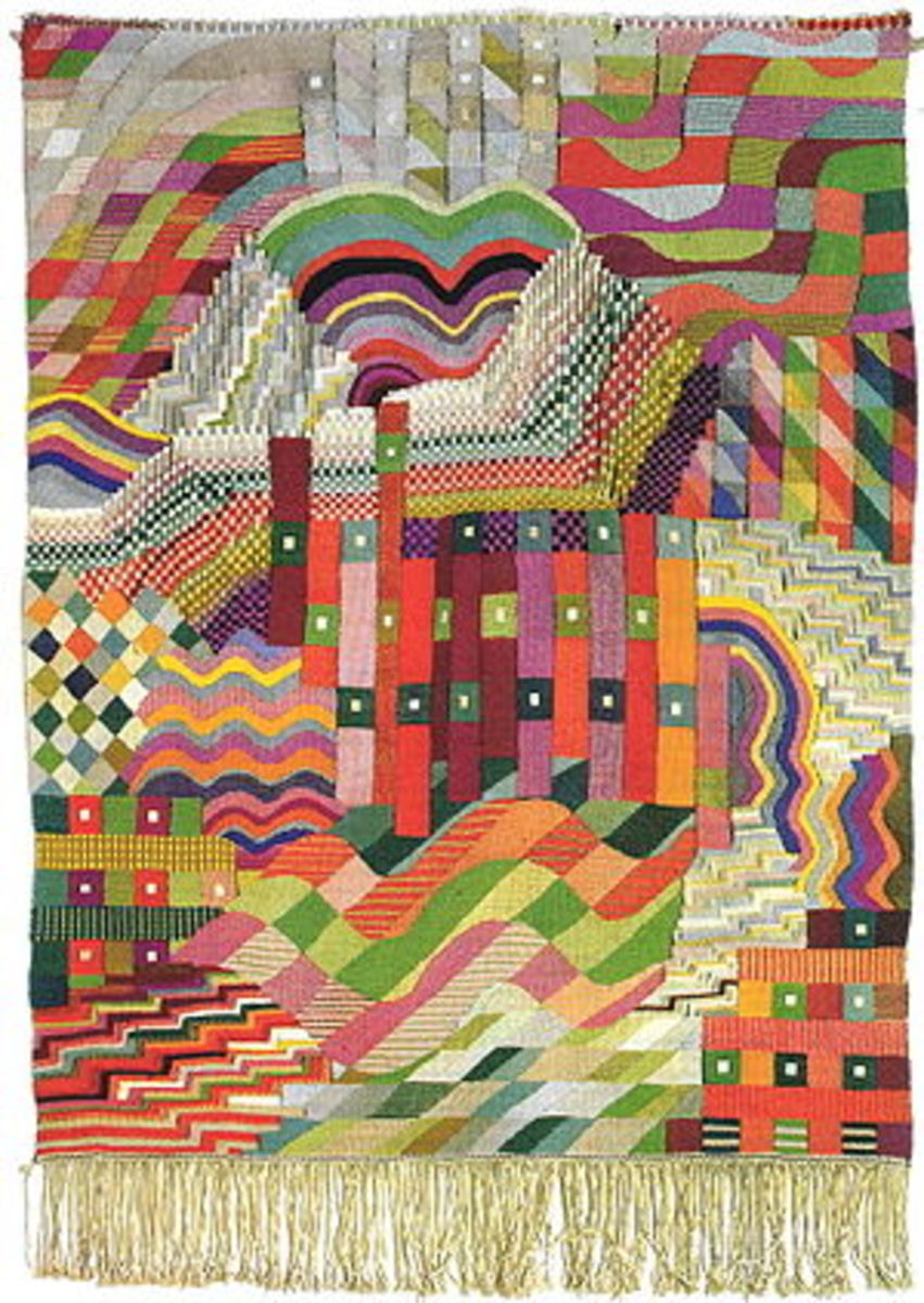 Bauhaus rug designed by Gunta Stlzl, who directed the textile workshop