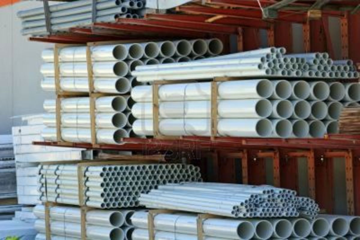"""1"""" PVC pipe available at your local DIY store."""