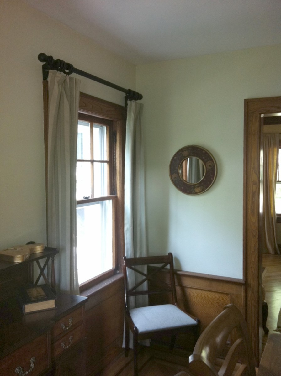 Decorative Rod Mounted Above Window Frame