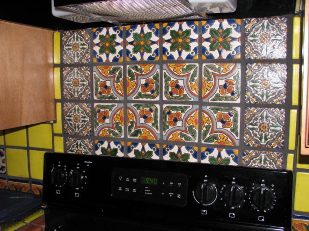 Raised glaze tiles.