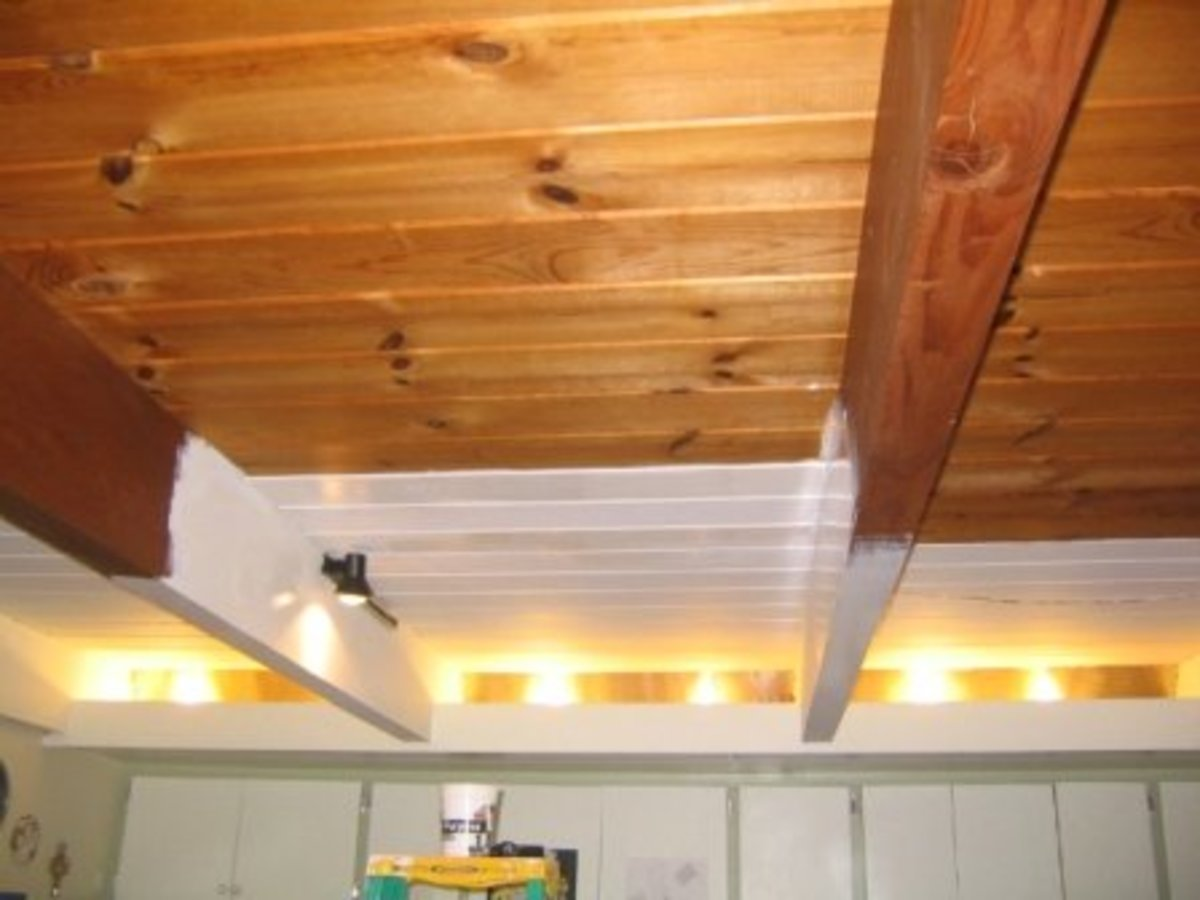 Painting the evil wood ceiling for How much to paint a ceiling
